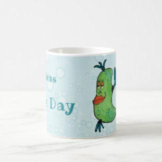 Whimsical Fish Artwork in Teal and Green Coffee Mug