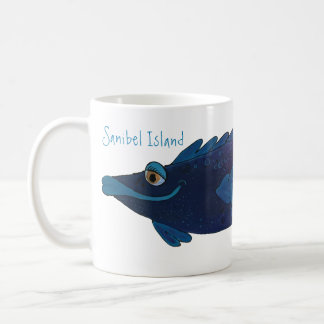 Whimsical Fish Artwork - Sanibel Island Florida Coffee Mug