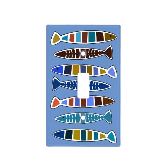 Whimsical Fish in the Sea Beach House Light Switch Cover