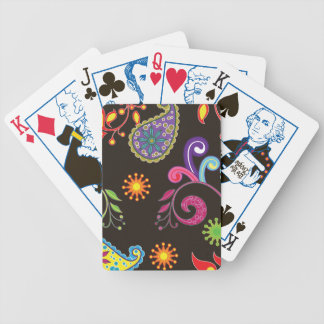 Whimsical Floral Design Bicycle Playing Cards