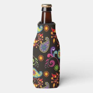 Whimsical Floral Design Bottle Cooler