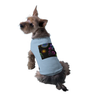Whimsical Floral Design Doggie Shirt