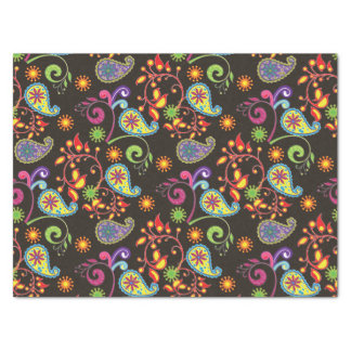Whimsical Floral Design Tissue Paper