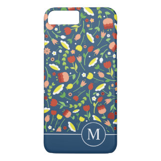 Whimsical Floral Ditzy Monogram | Phone Case