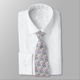 WHIMSICAL FLORAL FASHION NECK TIE
