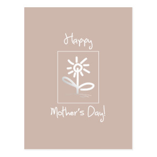 Whimsical Floral Mothers Day Greeting Postcard