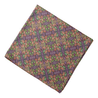 Whimsical Floral Pattern Bandana