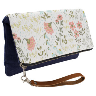 Whimsical Floral Pattern Girly Stylish | Clutch