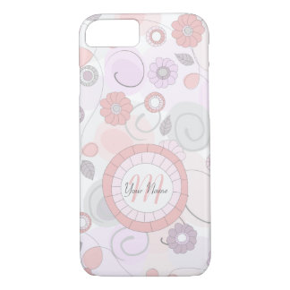 Whimsical Floral Pattern in Pastel Colors iPhone 7 Case