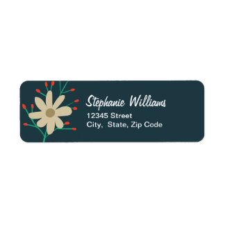 Whimsical Floral Return Address Labels