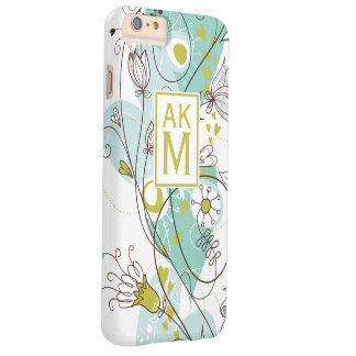 Whimsical Florals Monogram iPhone 6 Plus Case