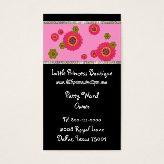Whimsical Flower Business Cards