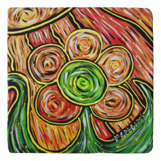 Whimsical Flower Colors In Motion Trivet