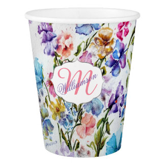 WHIMSICAL FLOWER GARDEN PAPER CUP