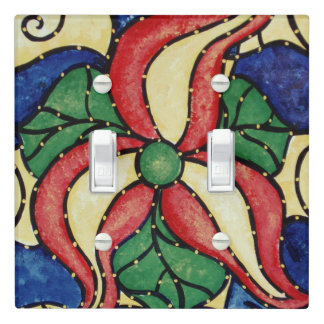 Whimsical Flower Light Switch Cover