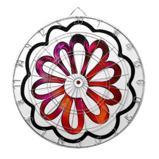 Whimsical Flower Power Doodle Dartboard