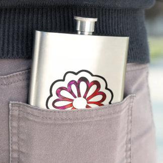 Whimsical Flower Power Doodle Flasks