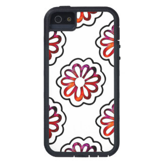 Whimsical Flower Power Doodle iPhone 5 Cover