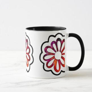 Whimsical Flower Power Doodle Mug