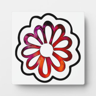 Whimsical Flower Power Doodle Plaque