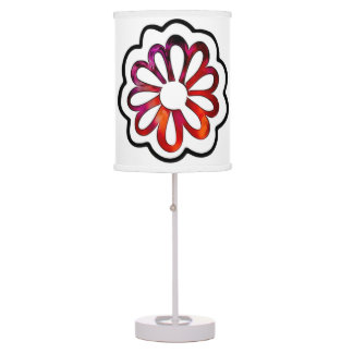 Whimsical Flower Power Doodle Table Lamp