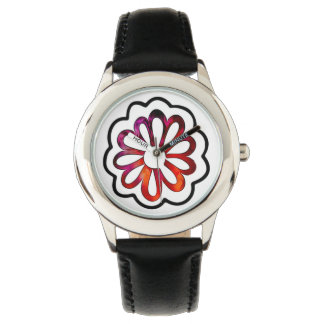 Whimsical Flower Power Doodle Watch