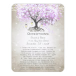 Whimsical Flower Tree Wedding Direction Cards