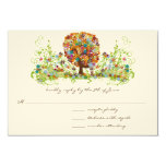 Whimsical Flower Tree Wedding Response Cards