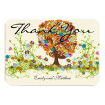 Whimsical Flower Tree Wedding Thank You Cards