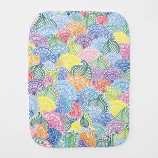 Whimsical Flowers Baby Burp Cloths