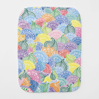 Whimsical Flowers Burp Cloth