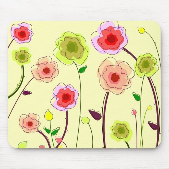 Whimsical Flowers - Mousepad