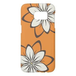 Whimsical Flowers Orange Samsung Galaxy S7 Case
