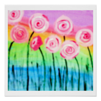 Whimsical Flowers Poster Perfect Poster