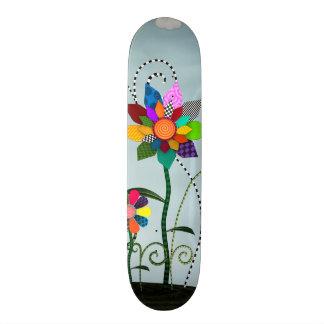 Whimsical Flowers Skate Deck