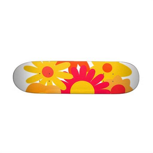 Whimsical Flowers Custom Skate Board