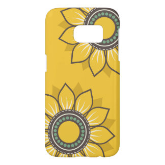 Whimsical Flowers Yellow Samsung Galaxy S7 Case