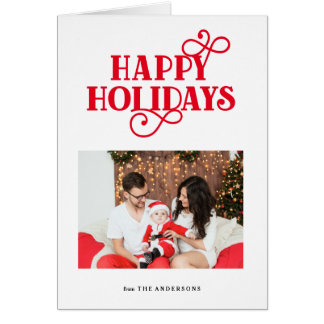 Whimsical Folded Holiday Greeting Card