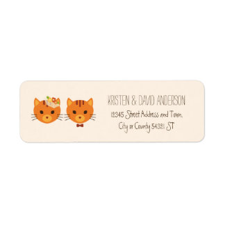 Whimsical Forest Cats (Cream) Wedding