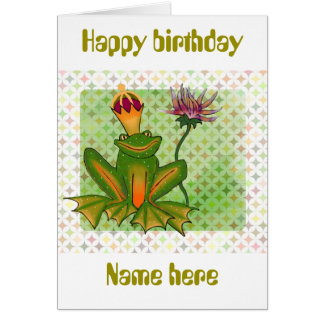 Whimsical frog birthday card