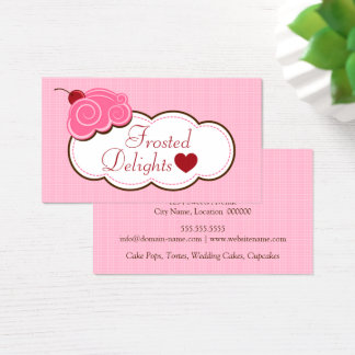 Whimsical Frosted Bakery Business Card