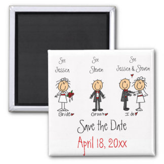 Whimsical Fun Save the Date Magnet