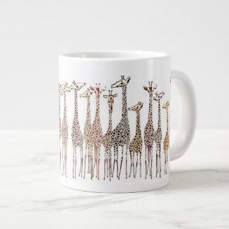 Whimsical Giraffes Large Coffee Mug