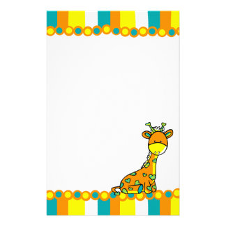 Whimsical Girafffe Stationery