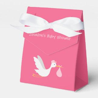 Whimsical Girl Stork Baby Shower Favor Box