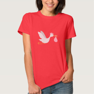 Whimsical Girl Stork Baby Shower T Shirt