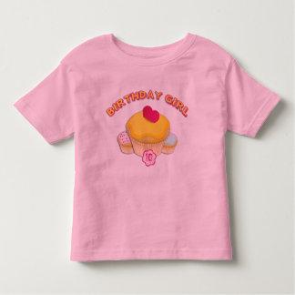 Whimsical Girls Cupcake Birthday Shirt