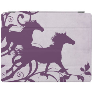 Whimsical Girly Purple Wild Horses iPad Cover