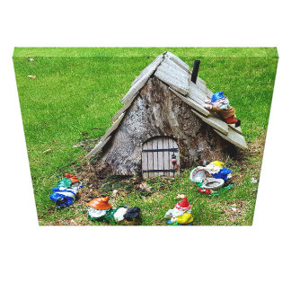 Whimsical Gnomes Together Wall art Stretched Canvas Prints