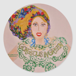Whimsical Goddess Classic Round Sticker